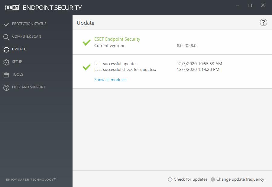 Updating the program   ESET Endpoint Security   ESET ...