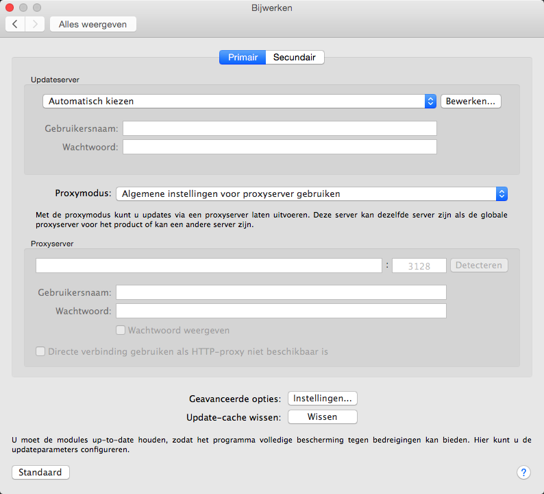Instellingen Voor Updates Eset Endpoint Security For Macos