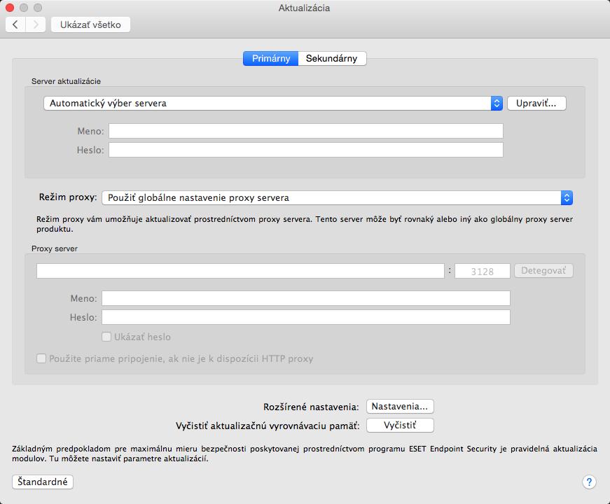 32d5d3fef Roletové menu Server aktualizácie je predvolene nastavené na možnosť  Automatický výber servera. Tým je zabezpečené, že aktualizácie sa  automaticky sťahujú z ...