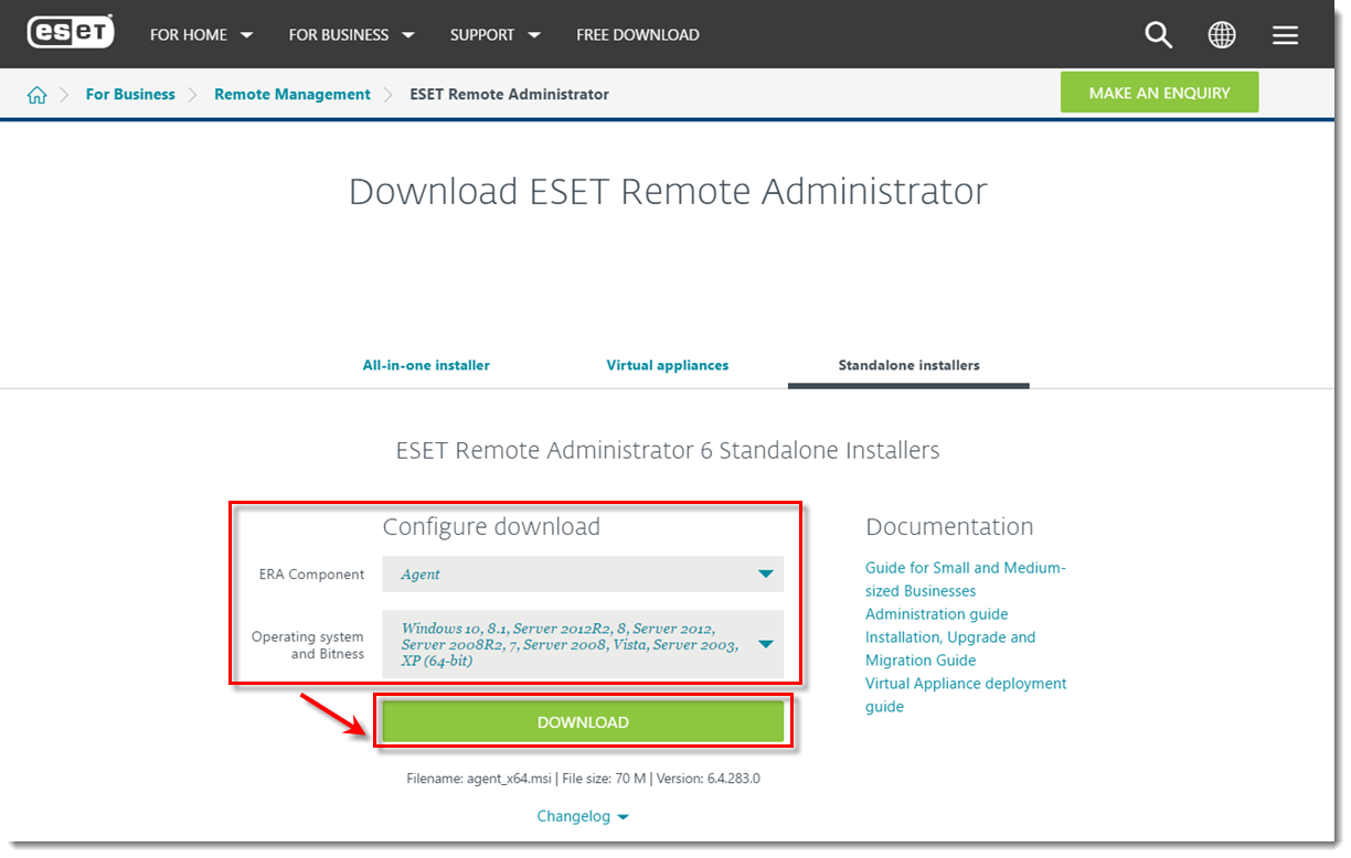 Deploy the ESET Remote Administrator Agent for MSPs | ESMC 7